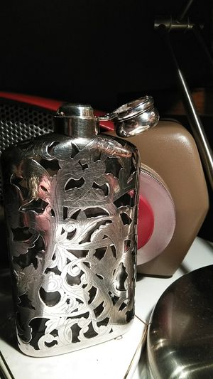 Sterling silver and glass antique flask for Sale in New York, NY
