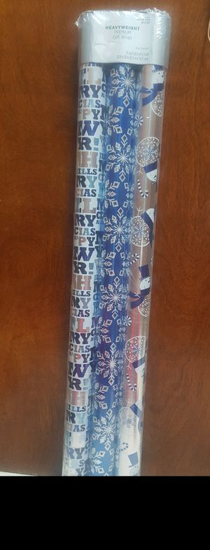 Heavy weight gift wrapping paper for Sale in Passaic, NJ