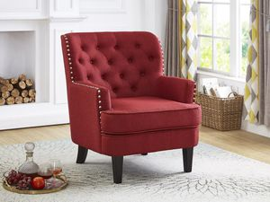 New! Red Nailhead Accent Chair *FREE DELIVERY* for Sale in Baltimore, MD