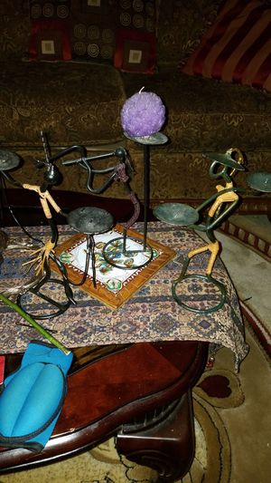 3 pieces together African hanmade chandelier very original for Sale in Dearborn, MI