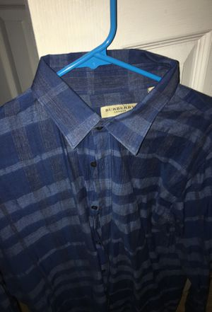 Burberry button up size L for Sale in Winston-Salem, NC