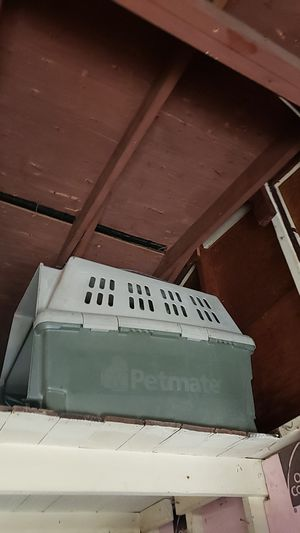 Petmate xl dog crate Hard Plastic and wire screen door with latches!! for Sale in Berkeley, MO