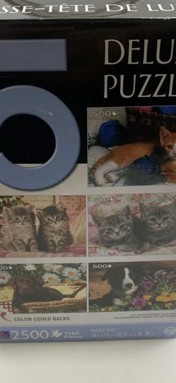 Sure-Lox 5 Jigsaw Puzzles Each 500 Pieces New Dogs And Cats for Sale in Weston,  FL