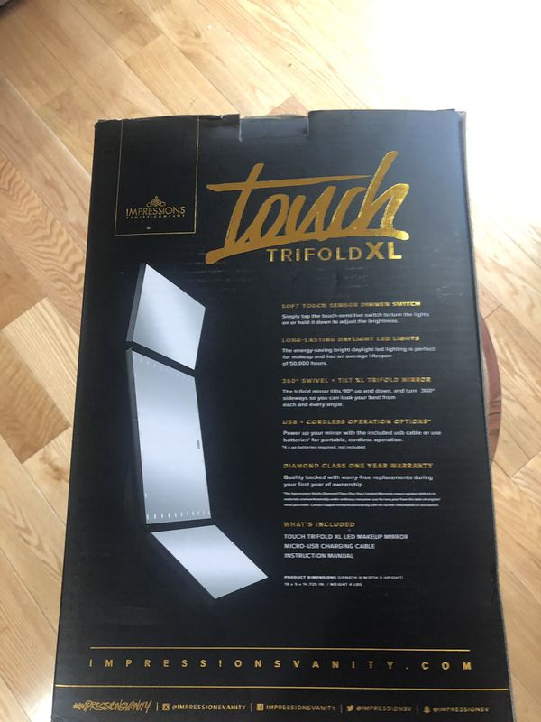 Impressions Vanity Touch Trifold XL Mirror