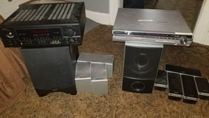 Mixed Surround sound receiver and amplifier set for Sale in Cleveland, OH