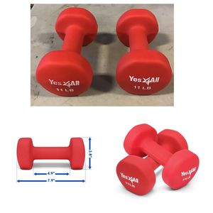 Yes4All Neoprene Dumbbell with Non Slip Grip Great for Total Body Workout Set of 2 for Sale in Stafford, TX