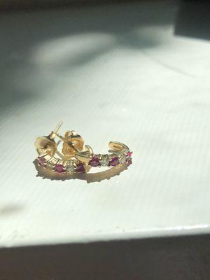 Helzberg Diamonds Ruby and Diamonds J-Hoops for Sale in Olympia, WA
