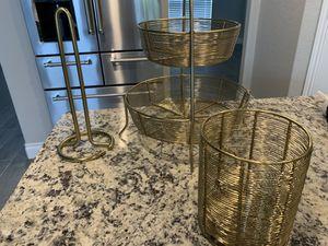 Gold kitchen set for Sale in San Antonio, TX