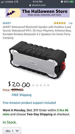 AUKEY SoundTank Waterproof Speaker for Sale in Los Alamitos, CA