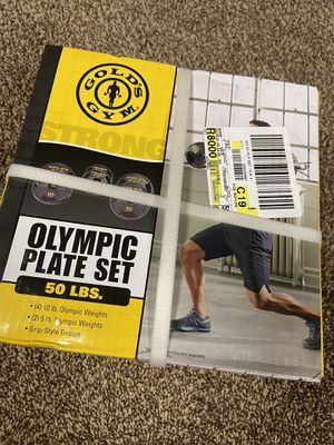Golds Gym Olympic Plate Set for Sale in Dyer, IN