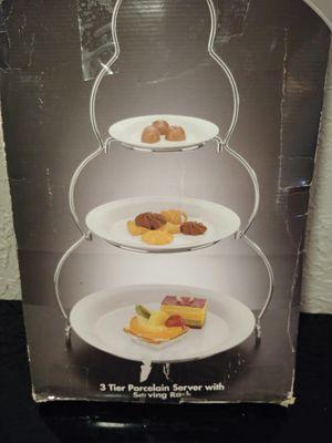 3 tier porcelain server for Sale in Tulsa, OK