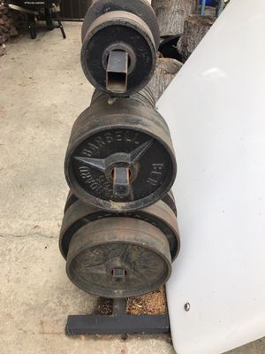 470lbs free weights & Stand for Sale in Rancho Cucamonga, CA
