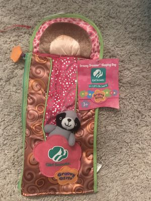 Girl Scout sleeping bag for a groovy girl doll for Sale in Orlando, FL