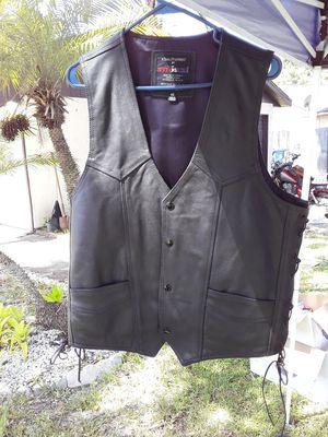Leather motorcycle vest. for Sale in Oldsmar, FL