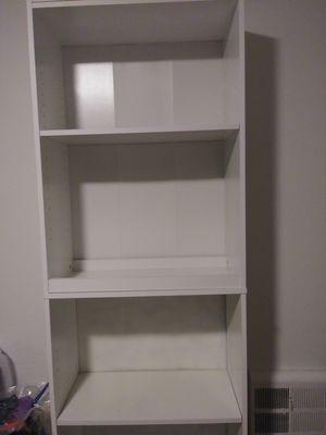 4 shelf bookcase white for Sale in Oakland, CA