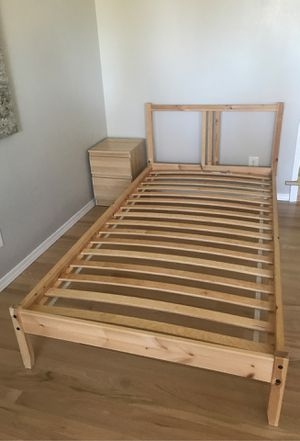 IKEA twin bed plus night stand for Sale in Issaquah, WA
