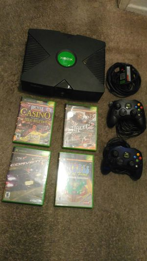 Original Xbox with 4 games and 2 controllers for Sale in Garden Grove, CA