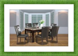 5pc dining table set with 4 chairs free delivery for Sale in Alexandria, VA