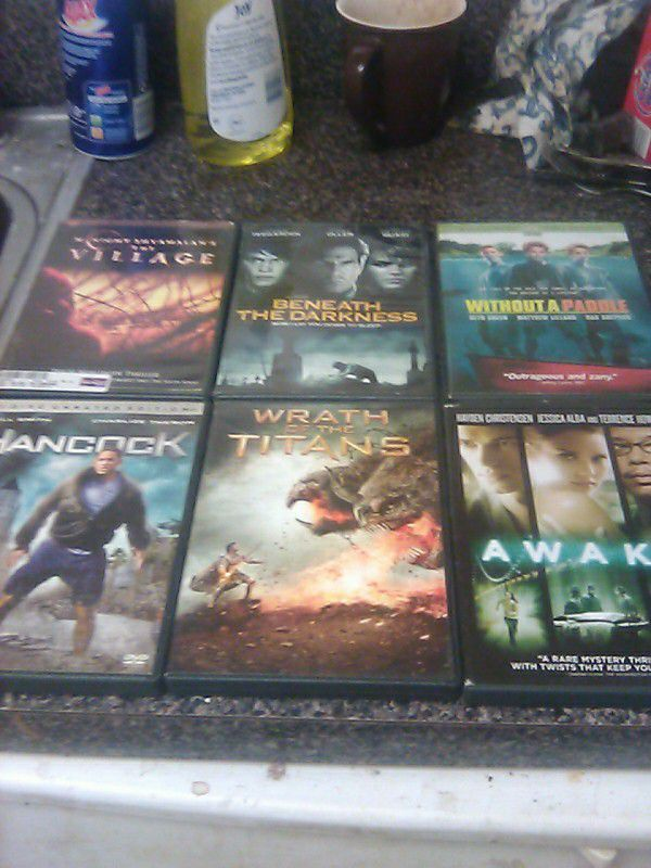 6--assorted dvds