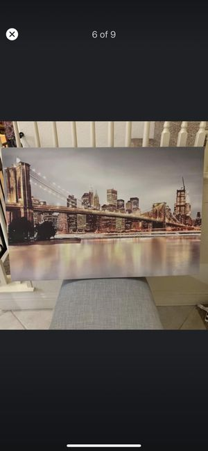 Canvas photo from kirklands for Sale in Fresno, CA