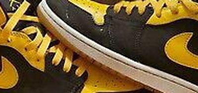 Nike Air Jordan 1 Retro Mid New Love OG 2007 Black Yellow 136085-072 Size 13 Men's for Sale in Portland,  OR