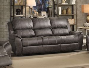 NEW Barnaby brown leather Reclining Sofa for Sale in Miami, FL