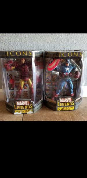 Marvel legends Iron man and Captain America for Sale in Glendale, AZ