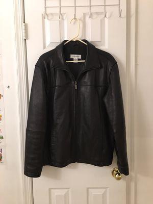 Calvin Klein soft leather Jacket (M) for Sale in Fairfax, VA