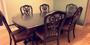 Black kitchen table w/ 6 chairs for Sale in Pembroke, MA