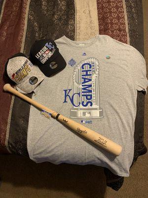 Kansas City Royals Baseball caps, T-shirt and Bat for Sale in El Mirage, AZ