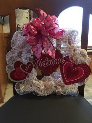 Valentine's wreath for Sale in Crocker, MO