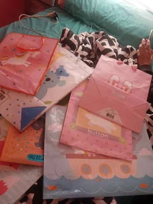 Baby girl baby shower gift bags for Sale in San Antonio, TX