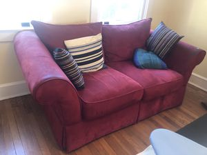 Small red couch for Sale in Washington, DC