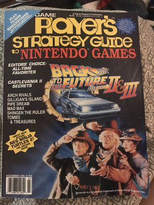 APlayers strategy guide to Nintendo games October vo.3 #7 back to the future 2 & 3 for Sale in Eau Claire, WI
