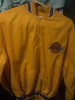 Delong vintage Lakers pullover jacket for Sale in Modesto, CA