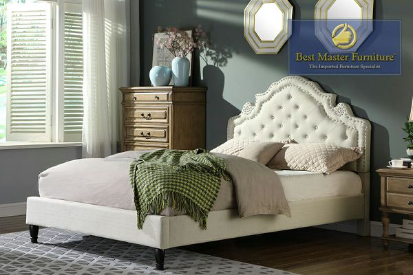 YY133 Fabric Platform Bed ( 3 Colors )