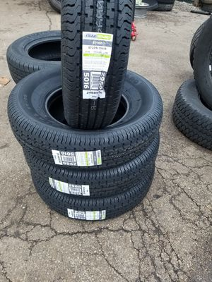 New trailer tires ST225/75/15 $90 each installed included for Sale in Aurora, IL