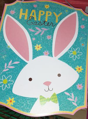 Happy easter hanging sign brand new for Sale in New York, NY