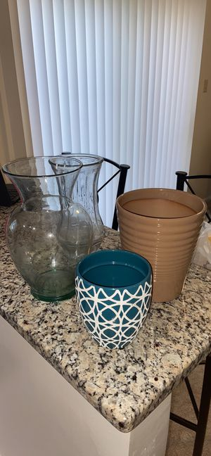 2 vases 2 planting pots $20 for all for Sale in Columbia, MD