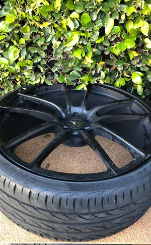"""22"""" Mercedes black wheels with tires cl and s class for Sale in West Los Angeles, CA"""