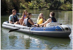 Intex Excursión 5 Person Inflatable Fishing Boat for Sale in Belleair, FL