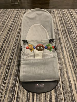 Baby Bjorn Mesh Baby Bouncer in Grey with Toy Bar for Sale in West Bloomfield Township, MI