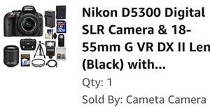 Nikon 5300 DSLR with 2 lenses and full package for Sale in Dallas, TX