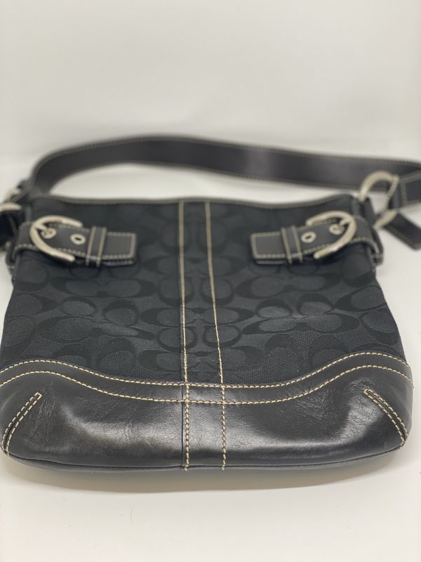 COACH Black Canvas Hobo Bag
