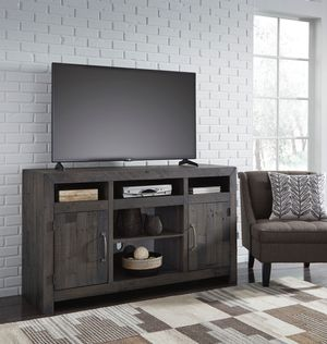 Ashley Furniture Dark Gray Large TV Stand w/Fireplace Option for Sale in Fountain Valley, CA