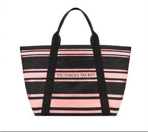 Victorias secret black and pink striped tote for Sale in Fairfield, CA