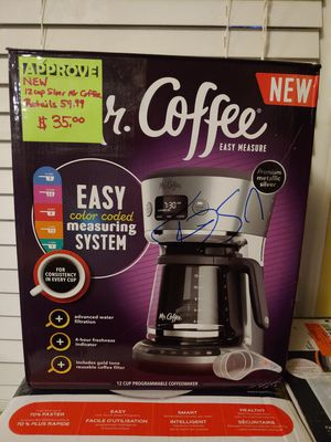 Mr Coffee 12cup programmable coffee maker for Sale in Hope Mills, NC