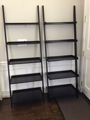 2 ladder shelves (black) for Sale in Livermore, CA