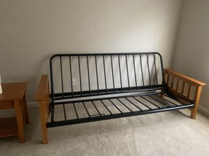 Futon frame and side table for Sale in Brentwood, NC