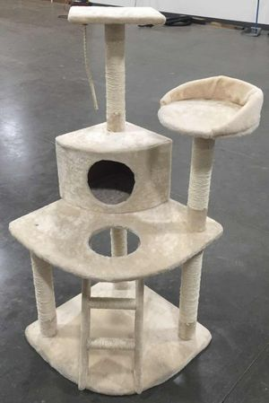 New in box 49 inches tall 19x19 inch base cat tree house play post pet furniture kitten kitty scratcher scratching post for Sale in Whittier, CA